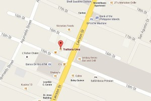 how to get to Trattoria Uma Bacolod - map