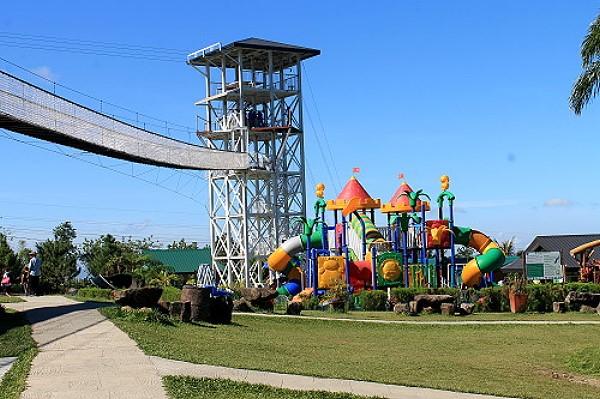 playground with bridge