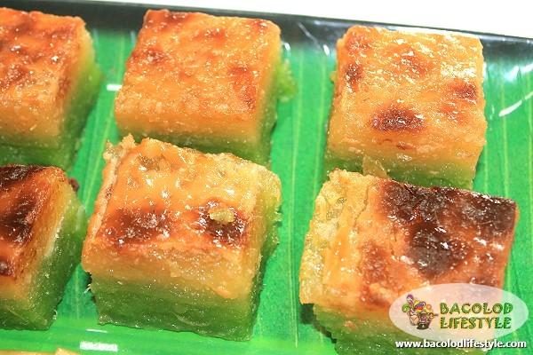 quan delicacies bacolod - Pandan Cassava Cake