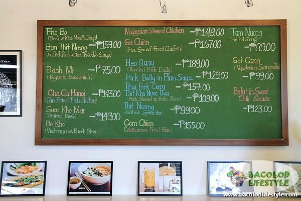 Menu board at Rau Ram Cafe