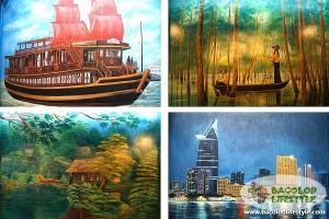 Rau Ram CAfe Wall murals