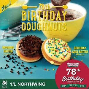 Krispy Kreme 78th Birthday donuts