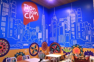 BonChon SM City Bacolod blue wall