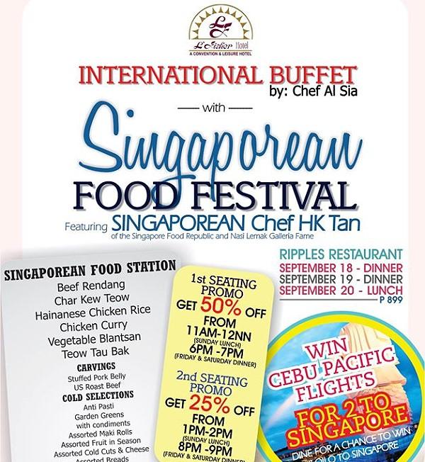 L Fisher Hotel Singaporean Food Festival