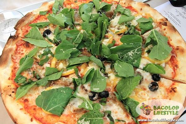 Parma and Arugula Pizza