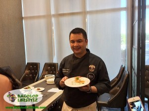 Vikings Bacolod executive chef Anton Abad