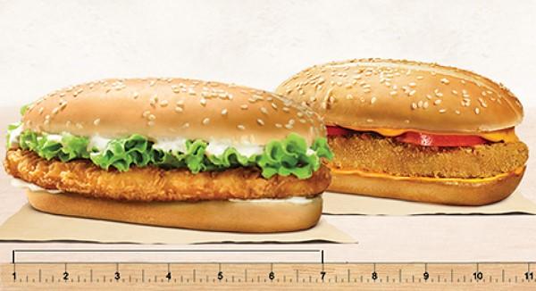 xtra long chicken burger