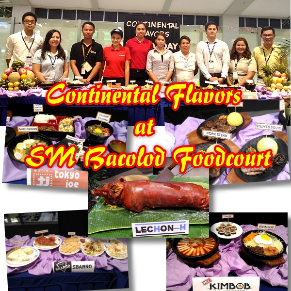 SM Foodcourt Continental Flavors Media Day banner