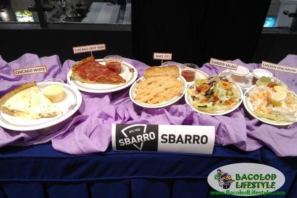 Sbarro menu