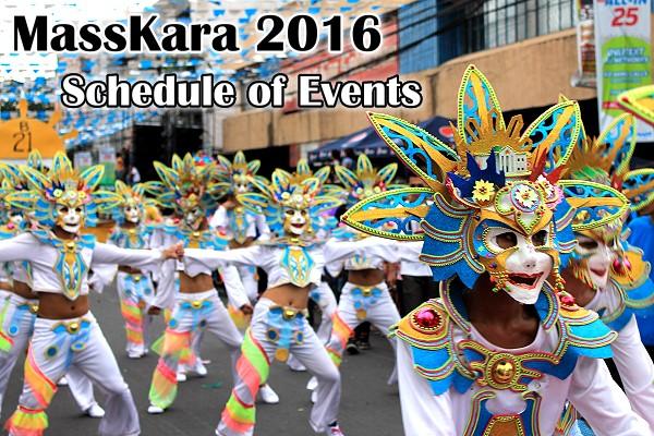 masskara festival 2016 schedule of events