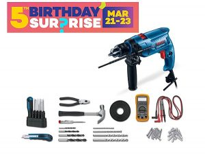 Bosch GSB 550 Impact Drill Electrician's Kit