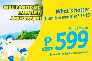 Cebu Pacific new Routes poster