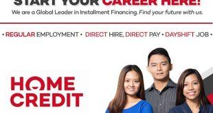 home credit hiring