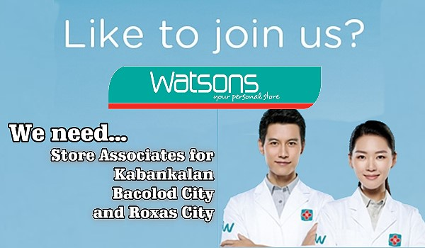 watsons now hiring