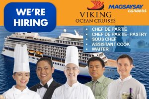 Magsaysay Careers is now hiring For Viking Ocean Cruises