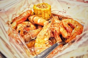 Shrimp in a Bag with salted egg