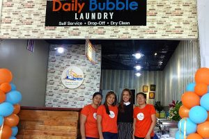 Daily Bubble Laundry with dawn and staff