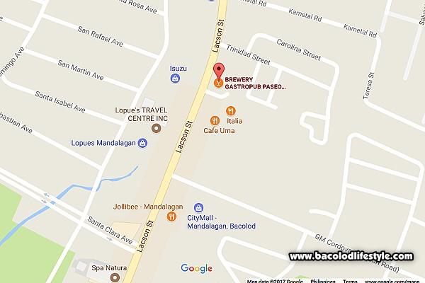 Brewery Gastropub Bacolod Map