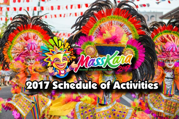 MassKara Festival 2017 Schedule of Activities