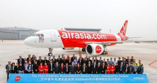 First A320neo assembled in Tianjin delivered to AirAsia