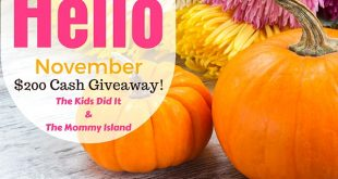 Hello November 200 Dollars Giveaway