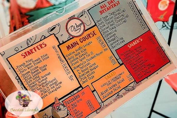 Weego Bistro - menu