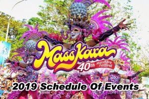 Masskara Festival 2019 Schedule of Activities