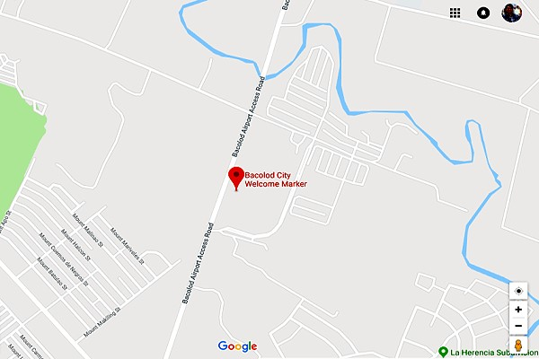 Bacolod Welcome Marker - location map
