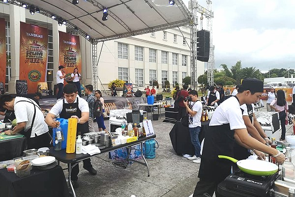 Scenes during the Culinaria Competition at the Bacolod Rum Festival