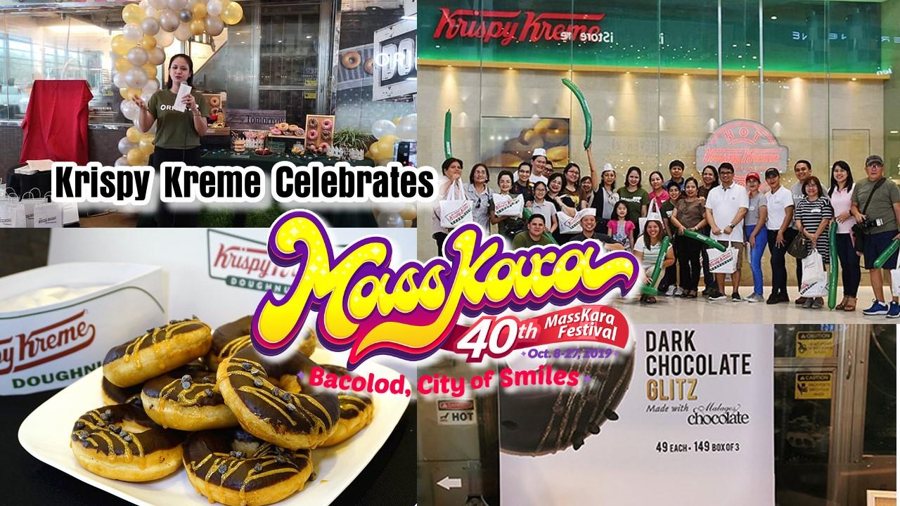 Krispy Kreme celebrates Masskara Festival 2019 introduces Dark Chocolate Glitz