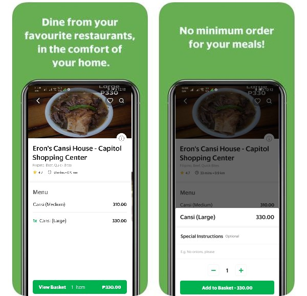 order cansi from GrabFood