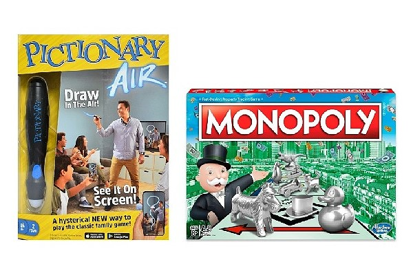 Monopoly and Pictionary air