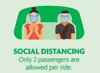 Grabcar Social Distancing