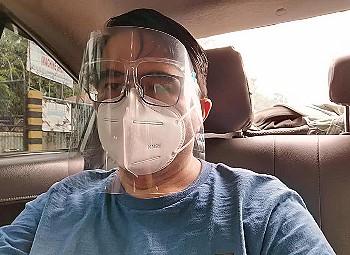 Grabcar Wear face mask and shield