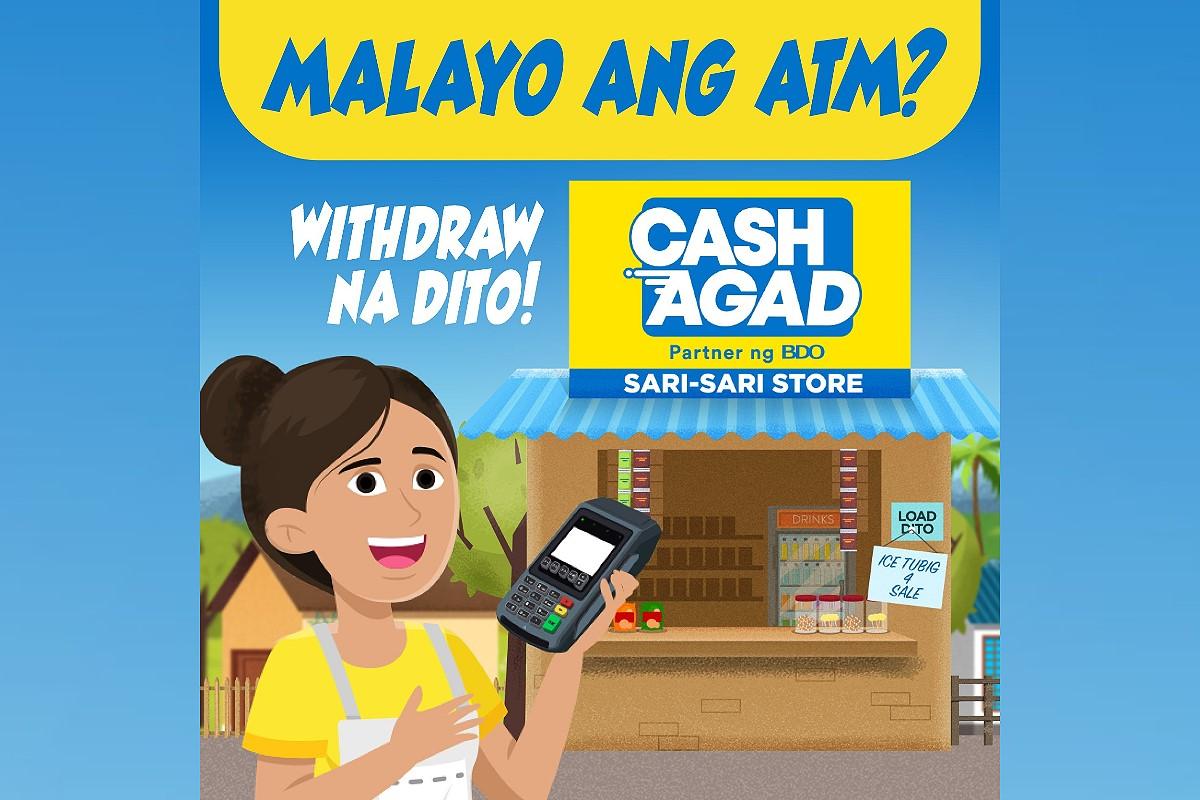 Mabilis at malapit mag-withdraw sa Cash Agad ng BDO