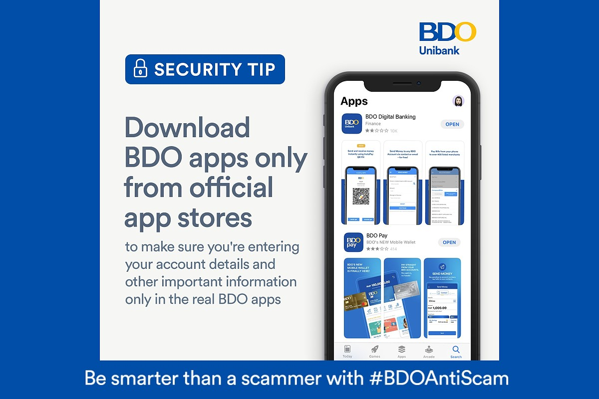 BDO reminds clients to download its mobile apps only from official app stores