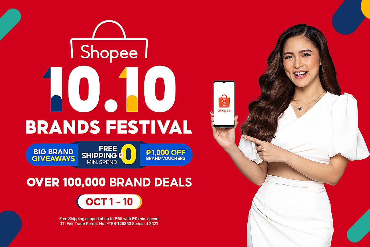 Win up to P430K this Shopee's 10.10 Brands Festival